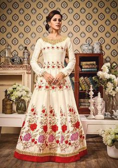 Impressive Ivory #Designer #Anarkali Suit