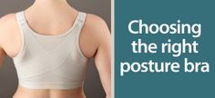 Choosing the right bra can help improve your posture & reduce back and neck pain. Learn more on our blog. Shop posture bras here: http://goo.gl/WNSo0m #backpain #posture