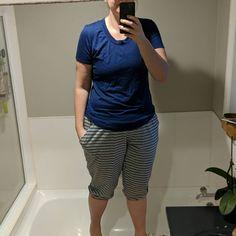 Yoga Pants, Knot, Bermuda Shorts, How To Make, T Shirt, Instagram, Tops, Fashion, Supreme T Shirt