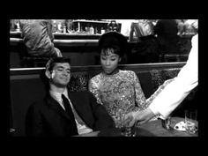 "Scene with Anthony Perkins and Diahann Carroll from ""Goodbye Again"" (1961) by Anatole Litvak.- ""Love is just a word"""