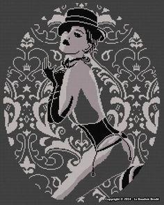 0 point de croix sexy cabaret girl - cross stitch