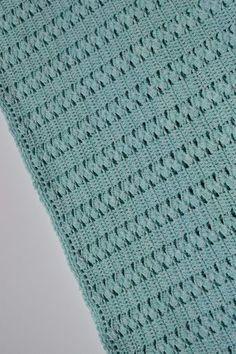 9 Tips for knitting – By Zazok No Sew Blankets, Knitted Blankets, Double Crochet, Single Crochet, Crochet Home, Knit Crochet, Crochet Stitches, Crochet Patterns, Slip Stitch