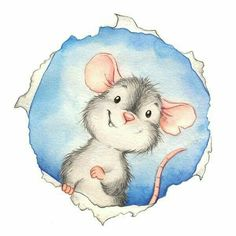 Mouse Hole - illustration by Monica Pierazzi Mitri. great to put on the wall as your class mouse hole. Maus Illustration, Illustration Mignonne, Cute Drawings, Animal Drawings, Art Fantaisiste, Art Mignon, Cute Mouse, Whimsical Art, Cute Art