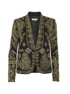Cropped Embellished Wool and Silk-Blend Twill Jacket via @WhoWhatWear