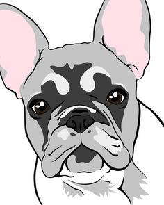 French Bulldog illustration and print, from Society 6