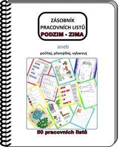 Pracovní listy (51listů) pro předškoláky - PODZIM/ZIMA (A4) How To Plan