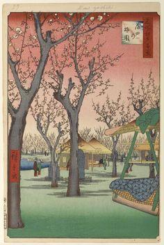 Utagawa Hiroshige (Ando) (Japanese: 1797-1858) - Plum Garden