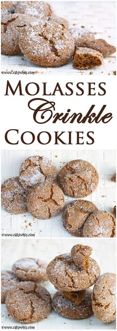 MOLASSES CRINKLE COOKIES...crispy, sugary and crinkly on the outside and insanely soft on the inside! From cakewhiz.com