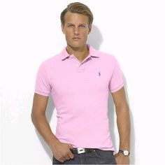 Polo Men Ralph Lauren Short Sleeved Mesh Pink  http://www.ralph-laurenoutlet.com/