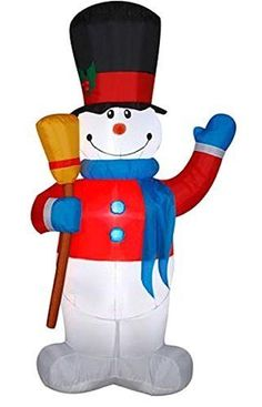 Airblown Deluxe Inflatable 7' Snowman Christmas Yard Decoration