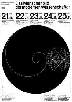 Breker (Walter, DE) 1966 Das Menschenbild der modernen Wissenschaften Universitätswoche Düsseldorf Plakat A1