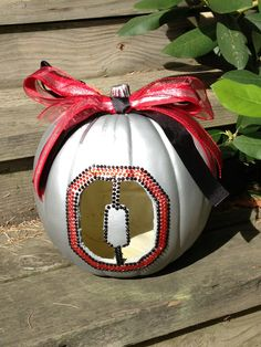 Ohio state pumpkin by HolidayCrafting on Etsy, $20.00