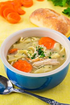 A super easy turkey noodle soup to warm you up on cold nights. And the perfect way to use turkey leftovers!