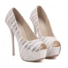 Wholesale Gorgeous Peep Toe and Glittering Design Women's Pumps Only $13.06 Drop Shipping | TrendsGal.com