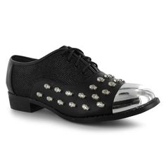Ladies Shoes | Iron Fist Skull Oxford Flat Shoes Ladies