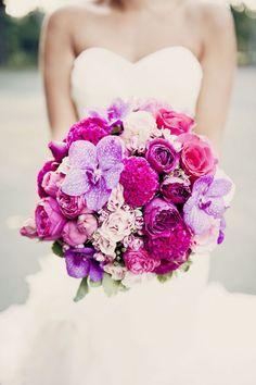 vibrant blooms wedding bouquet