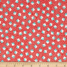 Kaufman London Calling Lawn Diamond Dot Coral from @fabricdotcom  Designed for Kaufman Fabrics, this very lightweight fabric is a finely woven, high count combed cotton lawn that is very soft and has an ultra smooth hand. It is perfect for flirty blouses, dresses, shirts, lingerie, tunics, tops and even quilting. Colors include coral, white and aqua.
