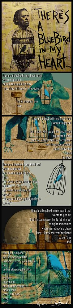 Click the image for the #GIF There's a Bluebird in My Heart – Charles Bukowski