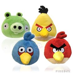 """Angry Birds 8"""" Plush Toys . http://www.shop-4-your-baby.com"""