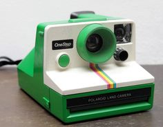 Green Polaroid OneStep Rainbow by LANCEPHOTO, via Flickr- you MUST read the story about this under the photo.