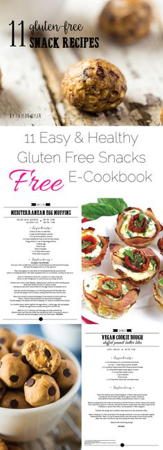 Do you need some healthy, gluten free snack inspiration?! Then you NEED this FREE e-cookbook that has 11 amazingly delicious recipes! | Foodfaithfitness.com | @FoodFaithFit