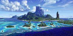 Concept Arts do filme Moana, nova produção do estúdio Disney   THECAB - The Concept Art Blog