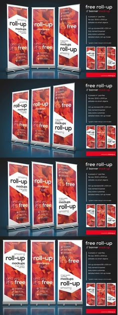 Free Roll-up Banner PSD Mockup | The Creative Feed