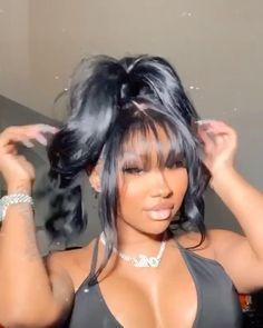 Hair Ponytail Styles, Weave Ponytail Hairstyles, Baddie Hairstyles, Office Hairstyles, Anime Hairstyles, Stylish Hairstyles, Hairstyles Videos, Hairstyle Short, School Hairstyles