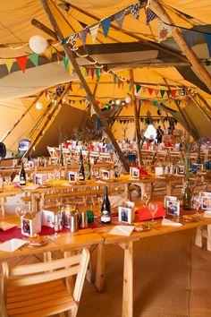 Festival wedding tipi, party tent - Glastonbury, Somerset