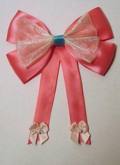 Cinderella Pink Dress Hair bow Disney Inspired by bulldogsenior08, $9.00