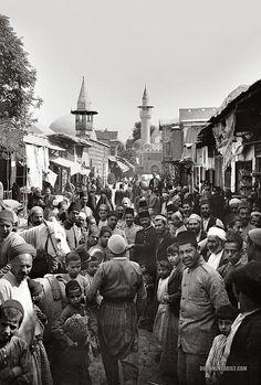 Street of Sanjakdar (Sancaktar). Damascus, Syria. 1900-1920.