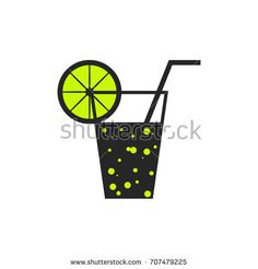 #Soda #lemonade flat #icon. #Vector #logo