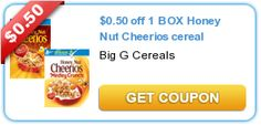 $0.50 off 1 BOX Honey Nut Cheerios cereal