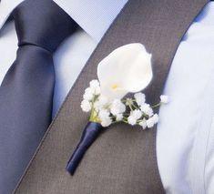 Boutonniere White Blue Nautical Wedding by WeddingDesigns2Love