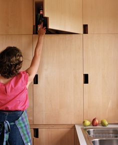Cabinets with cutouts rather than hardware - classic saunderson