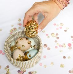 Inspired Idea: Sequin Easter Eggs