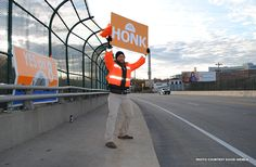 The idea is simple enough. Find a busy thoroughfare, attract as much attention as you can, and display your issue. Learn how we honked and waved our way through Cincinnati! http://blog.preservationnation.org/2015/02/24/preservation-tips-and-tools-how-to-host-a-preservation-themed-honk-and-wave #SaveOurIcons #Cincinnati #preservation #VoteYesUT