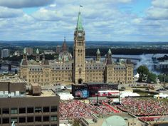 Parliament Hill on Canada Day