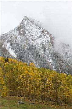First snowfall of the year in in Crested Butte Co.- Sep 17, 2012