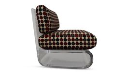 """Pair of Gary Gutterman Lucite lounge chairs Measure: 1.25"""" thick cantilevered solid acrylic frames."""