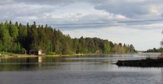 Finnish cottage and sea