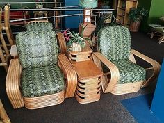 3 Strand Pretzel Rattan Chair With Barkcloth Cushions | Nature ASID |  Pinterest | Rattan, Pretzels And Hawaiian