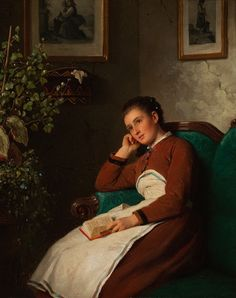 Sitting Girl (Reflecting) (1872). Johann Georg Meyer (German, 1813-1880). Oil on canvas. Milwaukee Art Museum. Johann Georg Meyer von Bremen depicts a young woman who has been reading and, due to her...