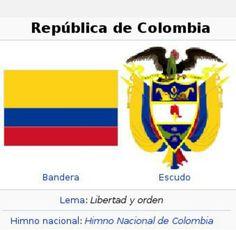 Bandera y escudo de Colombia
