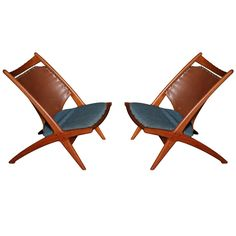 Scandinavian Design Chairs by Frederik Kayser | From a unique collection of antique and modern lounge chairs at http://www.1stdibs.com/furniture/seating/lounge-chairs/