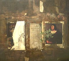 Divided Titian, c2000, Fred Otnes, collage painting, 28 x 31 in., USA