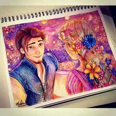 Fanart of Eugene and Rapunzel