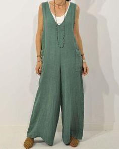 Plus Size Jumpsuit, Moda Boho, Jumpsuits For Women, Wide Leg, Pants For Women, Rompers, One Piece, V Neck, Clothes