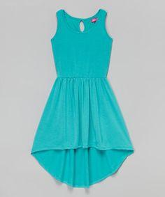 Another great find on #zulily! Aqua Crush Hi-Low Dress - Toddler & Girls #zulilyfinds