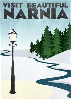 Retro Travel Poster - Narnia - Set of 4 - MANY SIZES - Modern Vintage Lion Witch Wardrobe Fantasy Castle Geek Film Typography Print Journey through the wardrob… (met afbeeldingen) Kunst Poster, Poster S, Tourism Poster, Will Herondale Quotes, Posters Decor, Pub Vintage, Literary Travel, Chronicles Of Narnia, Thinking Day